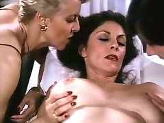 Torrid full bodied brunette MILF gets massage from blonde masseuse