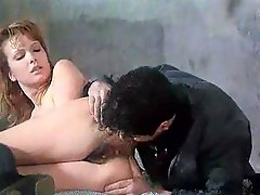 Retro anal and cunt fucking with hairy brunette