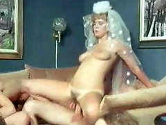 Classic porn wedding party with group sex