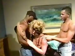 She Craves For Two Big Black Cocks (Interracial Threesome)