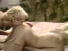 Blond dude licks and fucks pussy of his gorgeous vintage wife