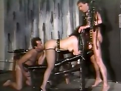 BDSM fun in threesome with curvy mistress and her slave boys