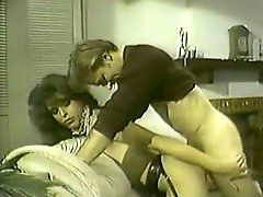 Vintage shemale maid gets drilled by a host