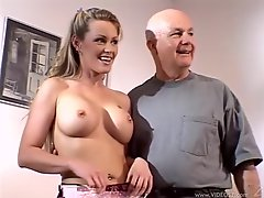 Nina Ferrari is fucked silly while her husband watches