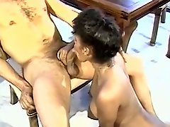 Intense ebony fuck for desert