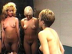 Hot lesbo threesome in wardens office