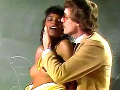 Hardcore vintage interracial fuck in the class for this ebony schoolgirl