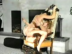 Cunt rubbing with retro lesbos