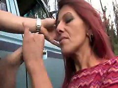 Sexy real aussie redhead gets fucked