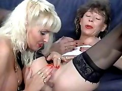 Classic vintage lesbian action and threesome clips with a cock compilation