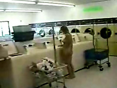 Naked Chick at the Laundromat