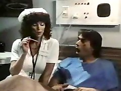 Nurse Parker treats patient to a blowjob