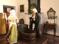 Slutty Beatrix enjoys some freaky fucking in a historical clip