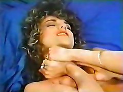 Graceful curly babe gets massage and cunnilingus from her boy