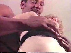Watch the blonde take a black dick in classic scene