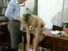 Naughty office whore gets her pussy eaten and fucked hard