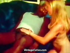 Young Blonde and Big Black Cock of Old Man