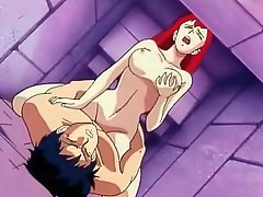 Vintage cartoon fuck with a sexy redhead
